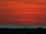 Tel Aviv see shore at dusk